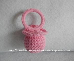 Chupete bebé ganchillo