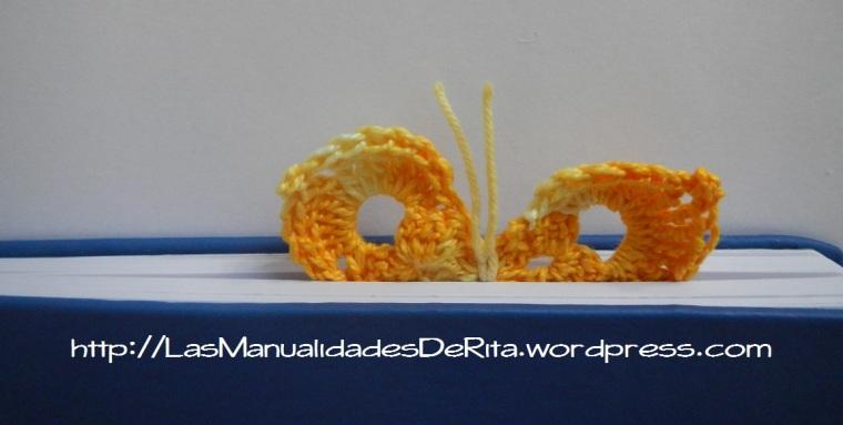 Marcapáginas mariposa ganchillo