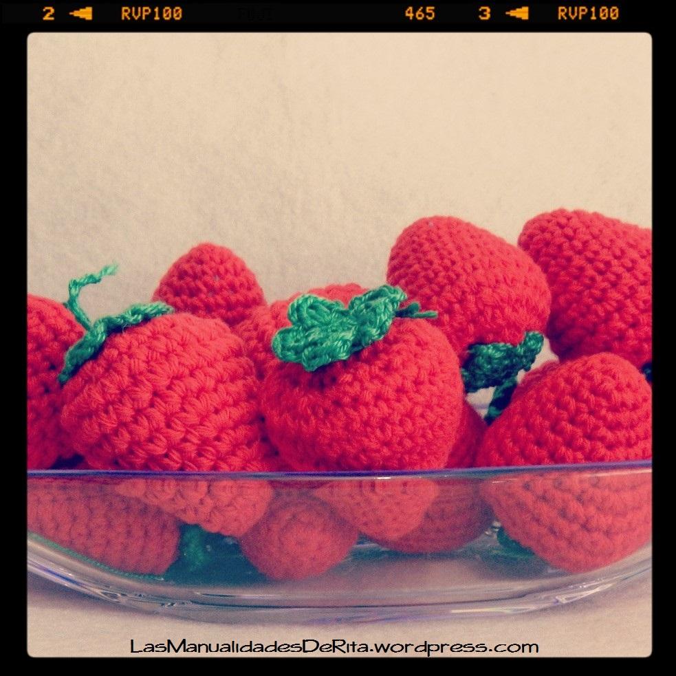 Fresas amigurumi