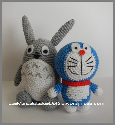 Totoro doraemon amigurumi