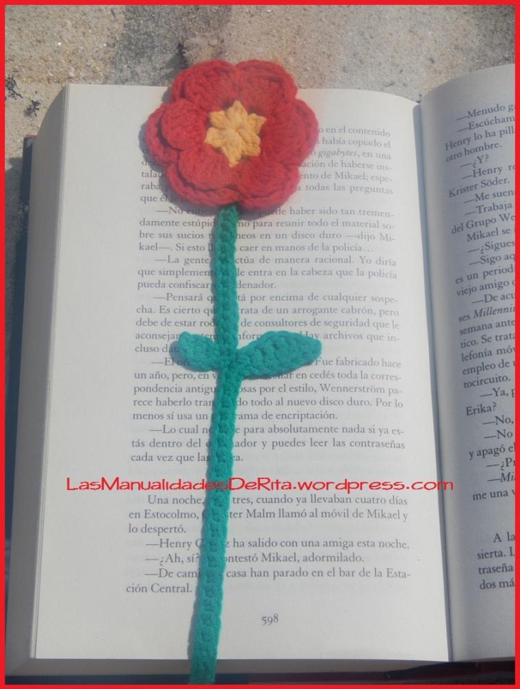 Marcapáginas flor