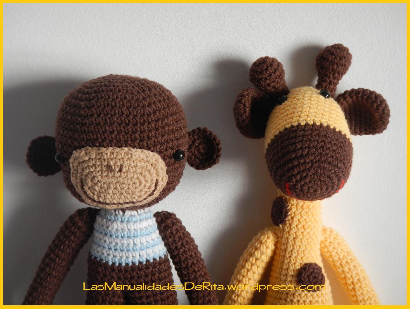 Mono amigurumi Las Manualidades de Rita