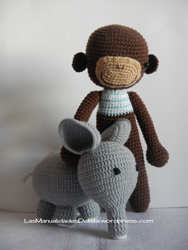 mono Elefante amigurumi