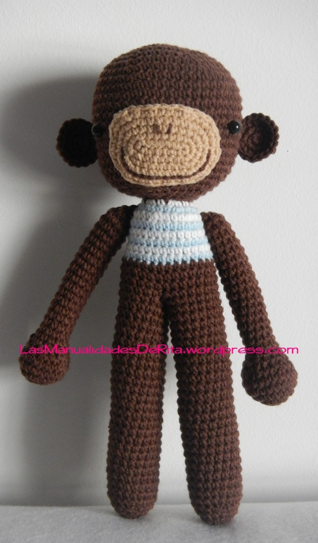 Mono amigurumi ganchillo