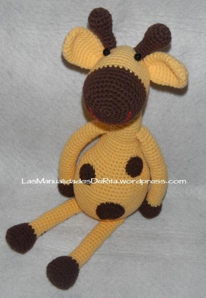 jirafa amigurumi crochet