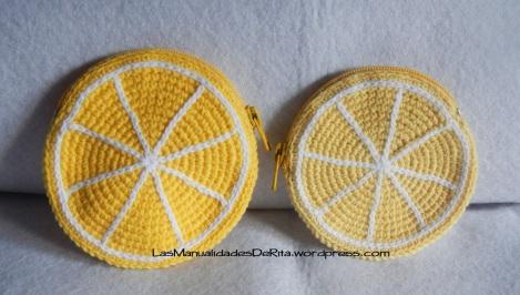 Monedero limón ganchillo