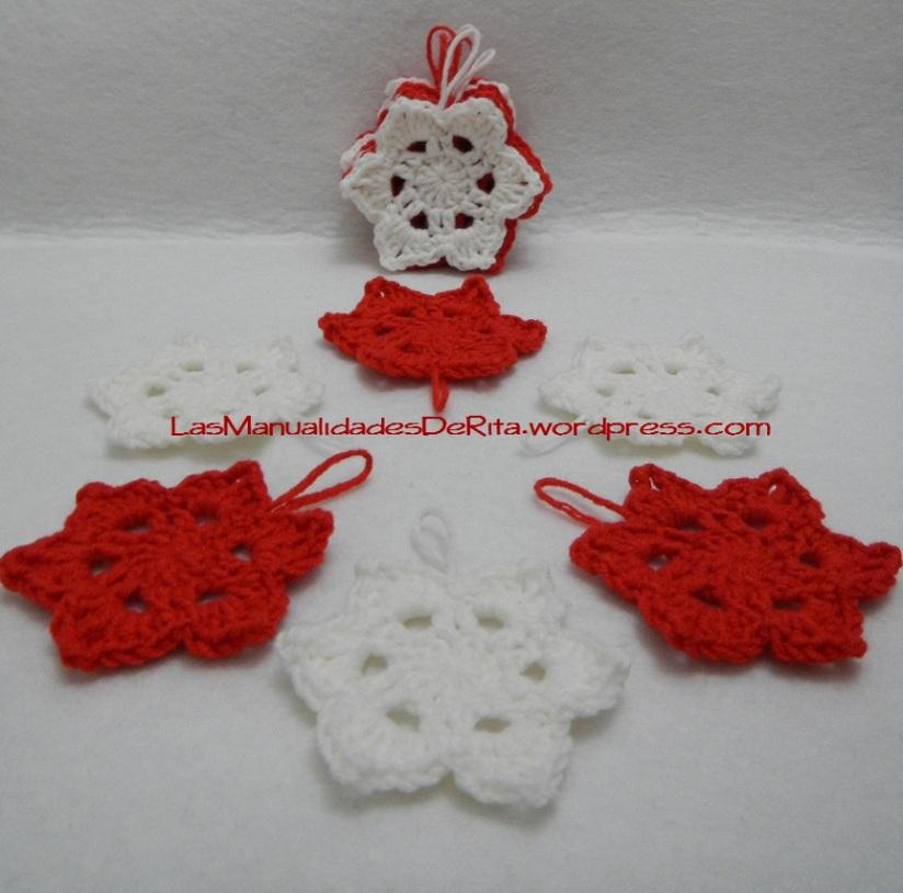 Estrellas Navidad ganchillo