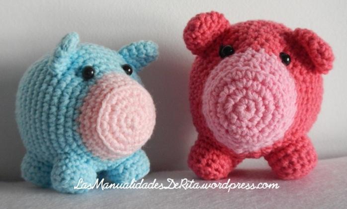 Cerdo amigurumi ganchillo (6)