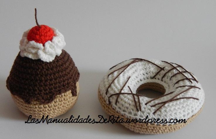 Cupcakes donut amigurumi(35)