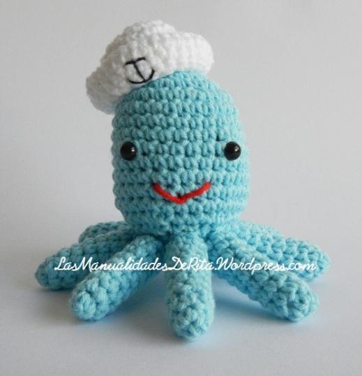 Pulpo amigurumi ganchillo crochet octopus (2)