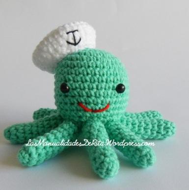 Pulpo amigurumi ganchillo crochet octopus (3)
