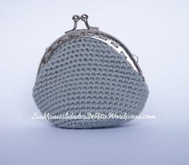 crochet - Monedero con cierre