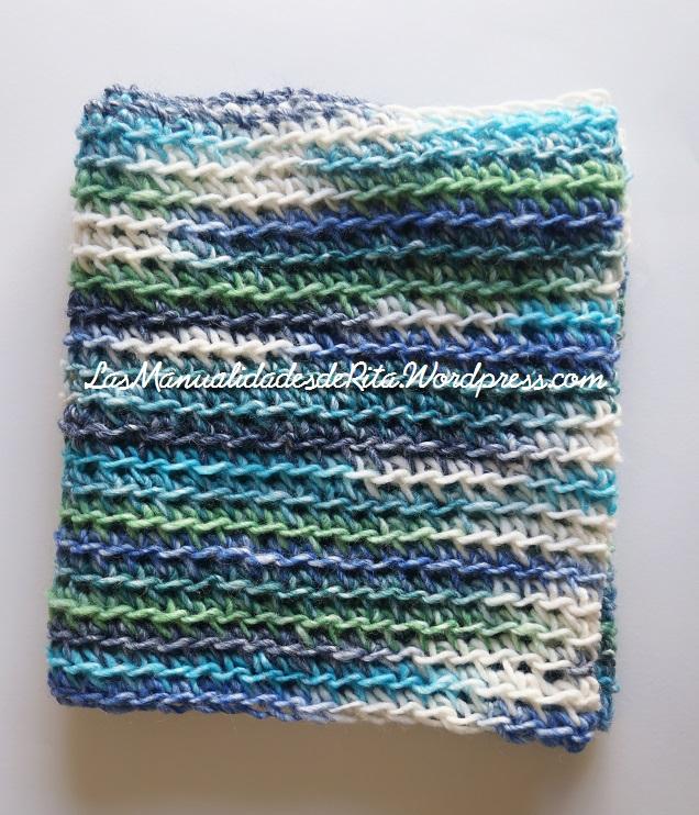 Cuello crochet lanas stop k2
