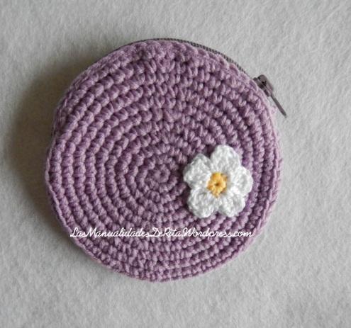 monedero crochet malva (2)