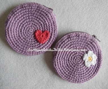 monedero crochet malva (3)