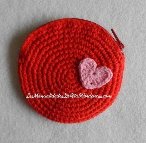 monedero crochet rojo (2)