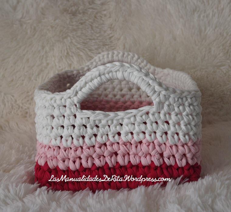Cesta rosa trapillo (7)