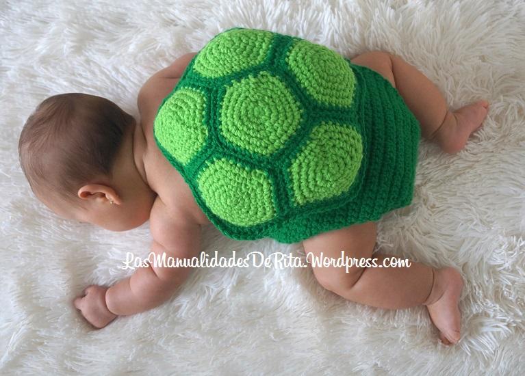 bebé tortuga a ganchillo
