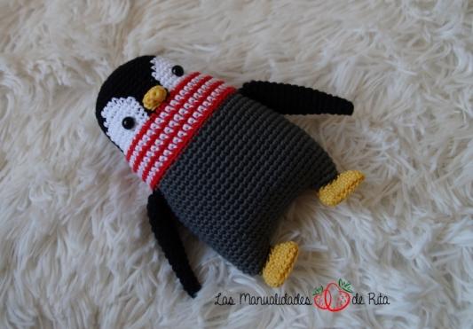 Pingüino ganchillo