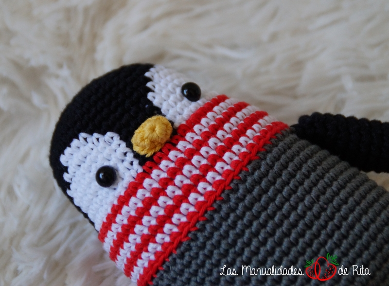 Pingüino Humboldt amigurumi