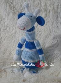 Jirafa azul a rayas (6)