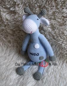 Jirafa azul y gris HUGO (15)