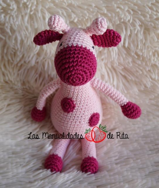 Jirafa peq. rosa de luneares (3)