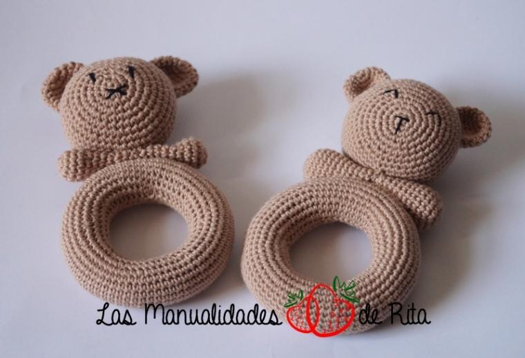 Sonajero oso crochet